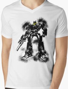 Smiley optimus Mens V-Neck T-Shirt