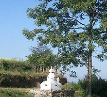 A local village stupa by chitrali