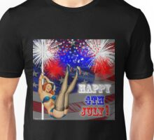 4th Of July  Pin Up Girl Unisex T-Shirt