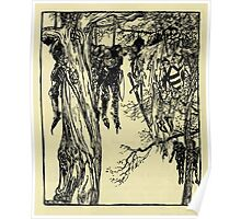 The romance of King Arthur and his knights of the Round Table art Arthur Rackham 1917 0148 Sir Beaumains Espide Hung Knights Poster