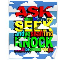 ASK SEEK KNOCK Poster