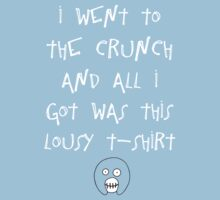 The Mighty Boosh – I Went to The Crunch (White) by PonchTheOwl