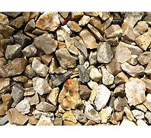 STONE CHIPPINGS GRAVEL TEXTURE Photographic Print