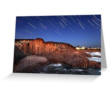 Port Stephens Startrails Greeting Card