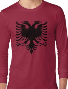 red and black eagle  Long Sleeve T-Shirt