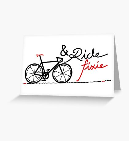 ride fixie Greeting Card