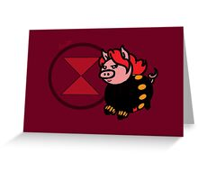 Pink Widow Greeting Card