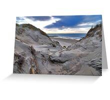 Dune and beach 3 Greeting Card