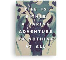 A Daring Adventure Canvas Print
