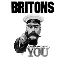 Britons Your Country Needs You - Lord Kitchener Photographic Print