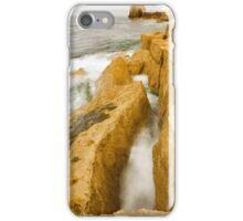 Waves crashing over Portland Bill iPhone Case/Skin