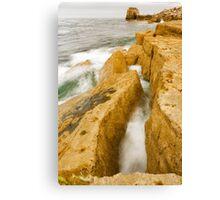 Waves crashing over Portland Bill Canvas Print