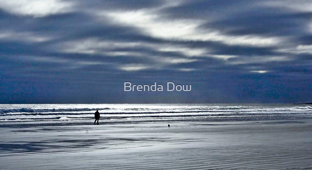 Silhouette on Long Sands Beach by Brenda Dow