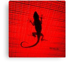 because of a Lizard. Canvas Print