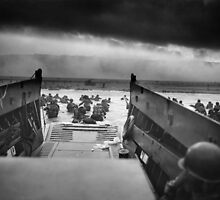 Omaha Beach Landing -- D-Day Normandy Invasion by warishellstore
