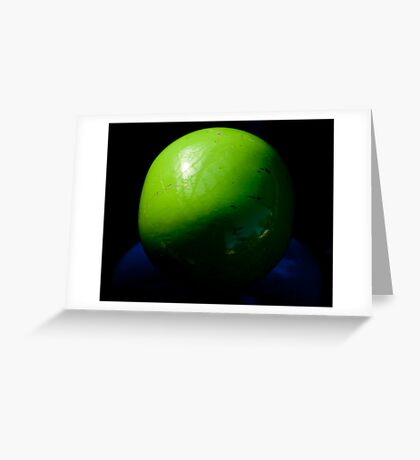 Big Green Ball Greeting Card