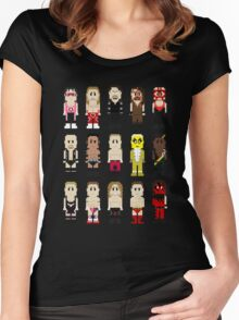 8-Bit Wrestlers '97! Women's Fitted Scoop T-Shirt