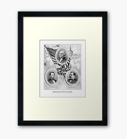 Saviours Of Our Country -- American History Framed Print