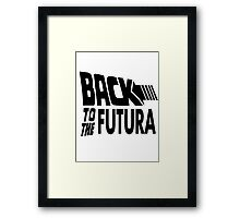 Back to the Futura Framed Print