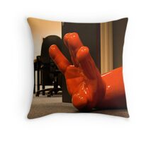 Giant in the Office Throw Pillow