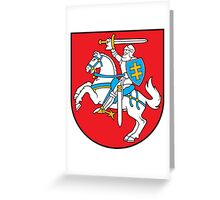 Coat of Arms of Lithuania Greeting Card