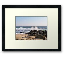 Ditch Plains Framed Print