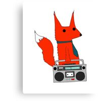music fox Canvas Print