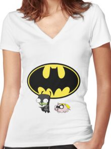 The Hero We Deserve Women's Fitted V-Neck T-Shirt