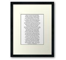 Hamlet's Soliloquy  Framed Print
