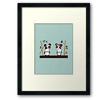 Two Pandas Framed Print