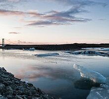Jökulsárlón, Iceland at sunrise by Gísli  F