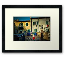 The flag needed washing... Framed Print