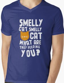 Smelly Cat Mens V-Neck T-Shirt