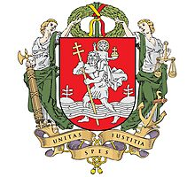 Coat of Arms of Vilnius Photographic Print