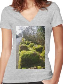 Moss On The Wall Women's Fitted V-Neck T-Shirt