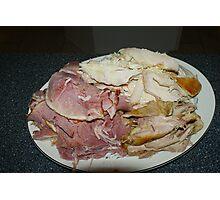 Ham & Turkey Photographic Print