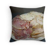 Ham & Turkey Throw Pillow
