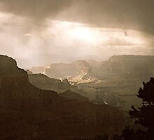 Storm over Grand Canyon by deepbluwater
