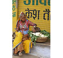 Radish seller, Pushkar, India Photographic Print
