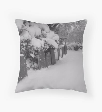 Empty graveyard Throw Pillow