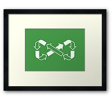 Mobius Says Recycle Framed Print