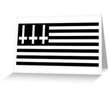 Anti Flag BW Greeting Card