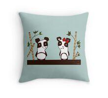 Two Pandas Throw Pillow