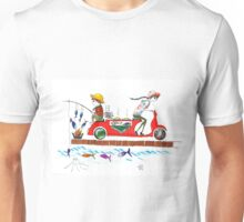 from sea to the table... (fishing, grilling, delivering) Unisex T-Shirt