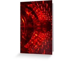 RED FIREBALL SPARKS ABSTRACT Greeting Card