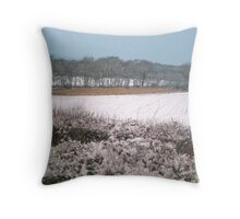 Snow-covered Throw Pillow