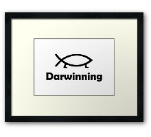 Darwinning Framed Print