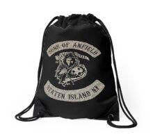 Sons of Anfield - Staten Island NY Drawstring Bag
