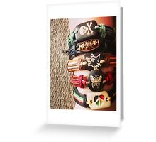 Crafty Accessories' handmade leather bracelets Greeting Card