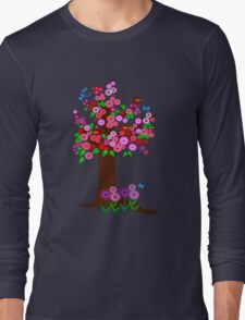 Spring tree with blossoms Long Sleeve T-Shirt